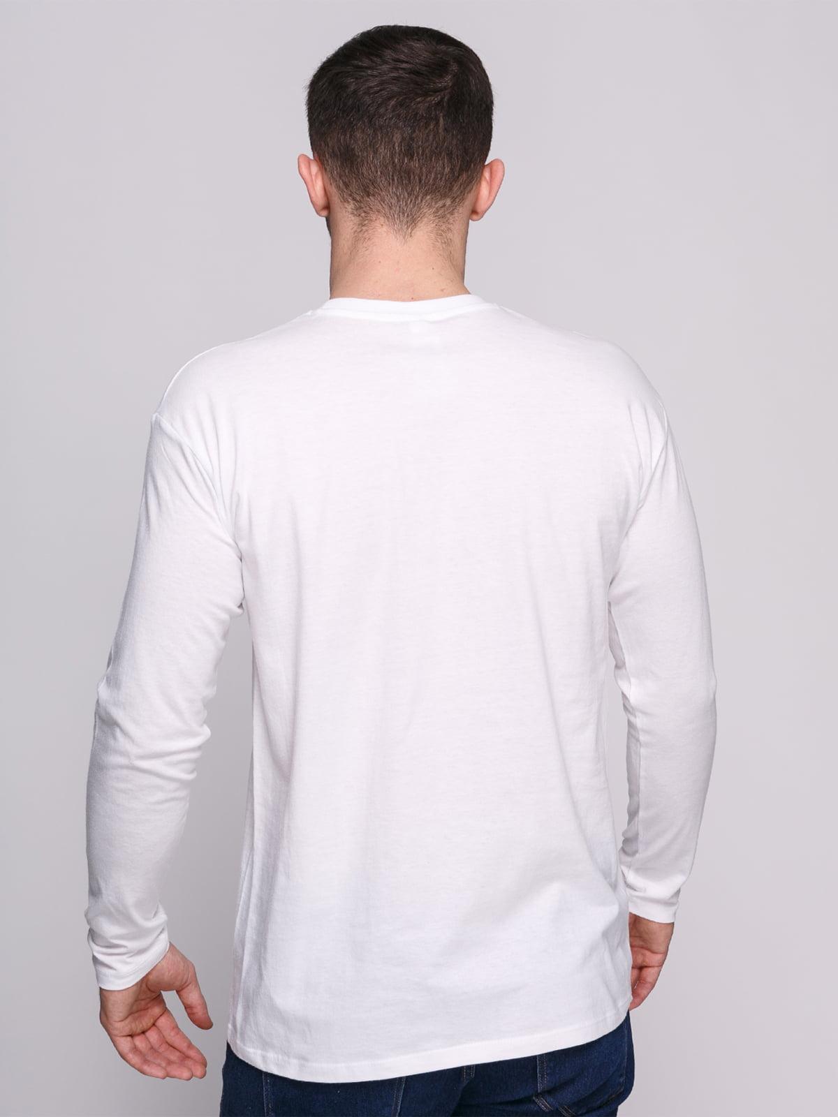 Лонгслів білий з принтом | 4823723 | фото 2