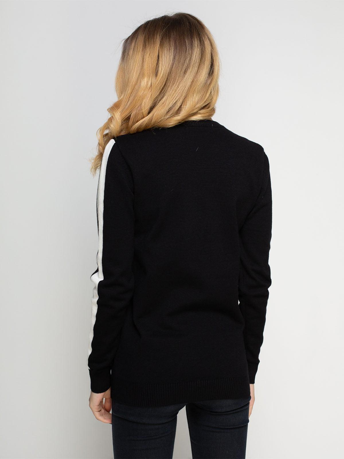 Джемпер черный с надписью | 4825954 | фото 2