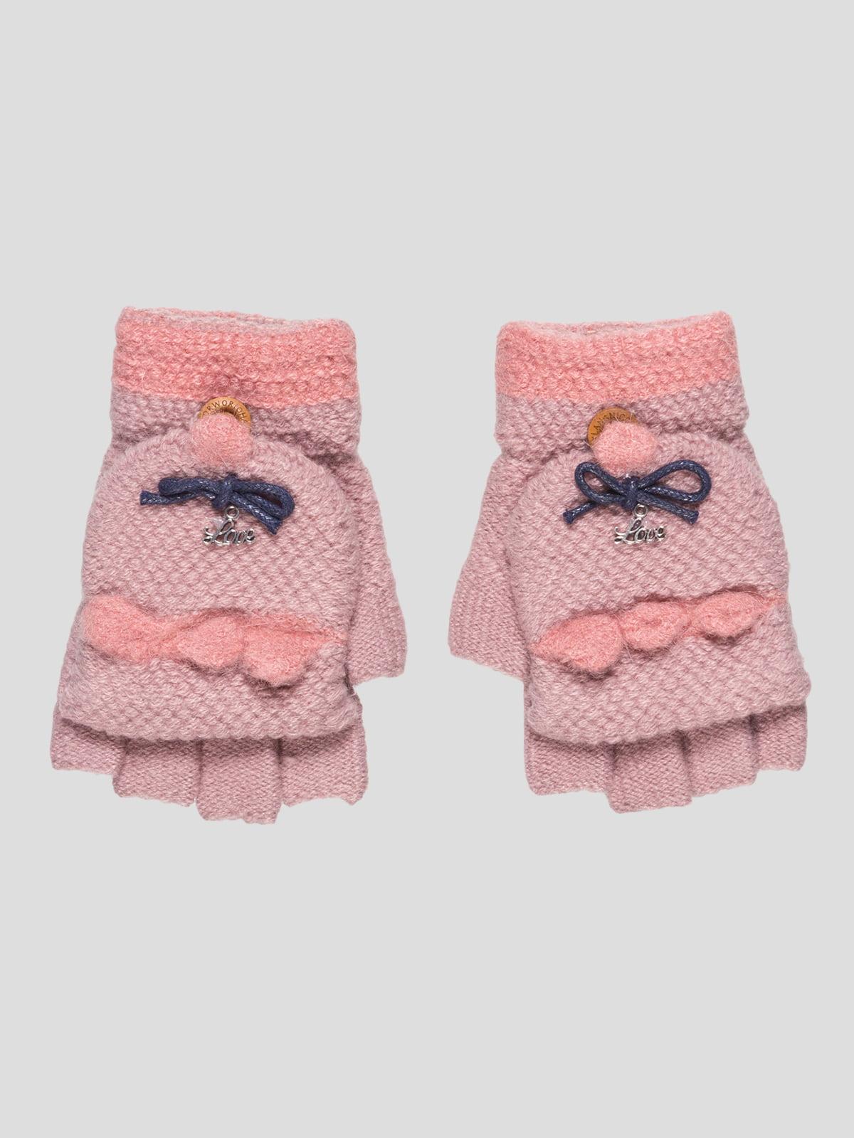 Перчатки темно-розовые | 4808939