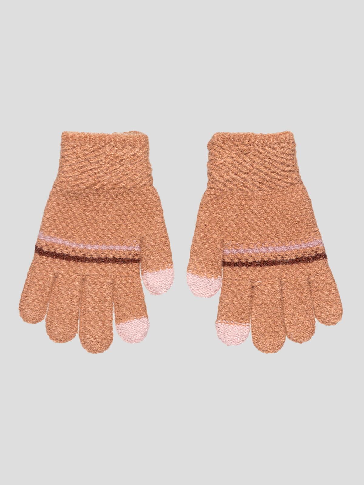 Перчатки кирпичного цвета | 4808941