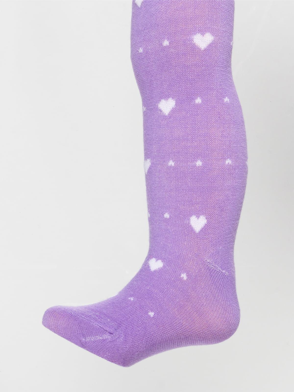 Колготки фіолетові з малюнком | 4808804
