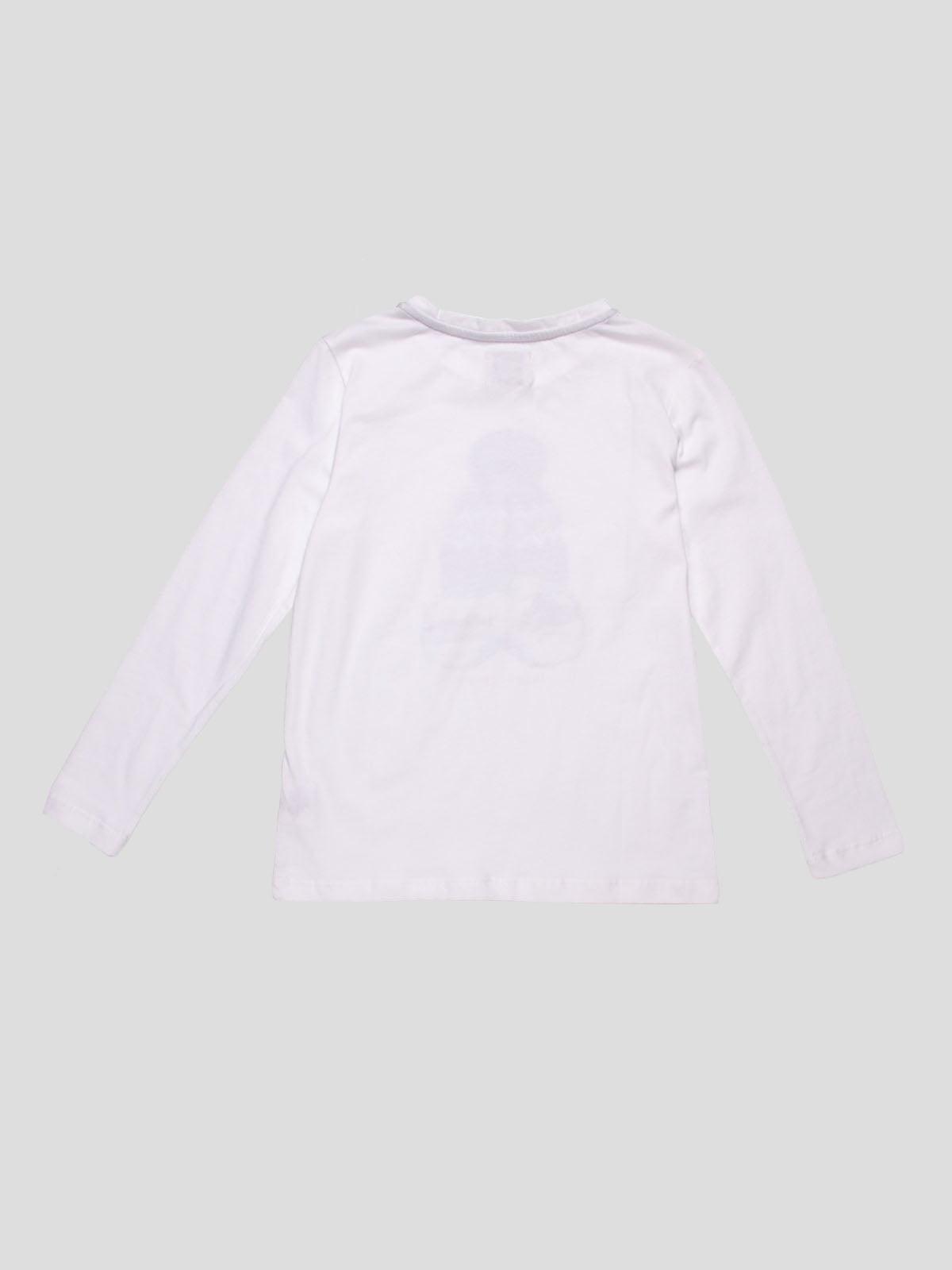 Лонгслів білий з принтом | 4808696 | фото 2