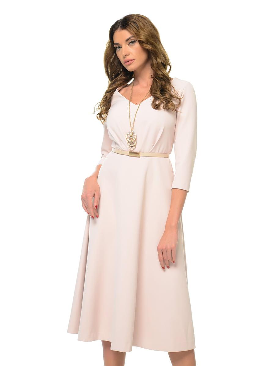 Платье бежево-розовое | 4827639