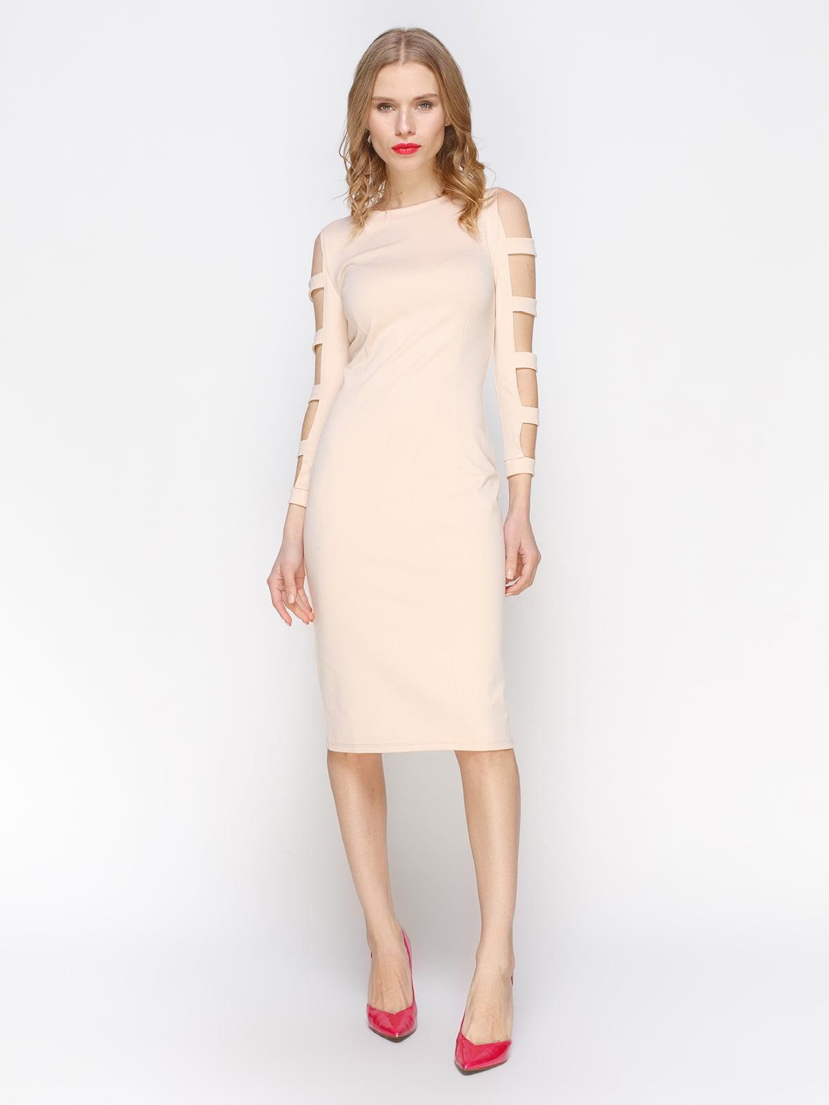Платье бежевое | 2981664
