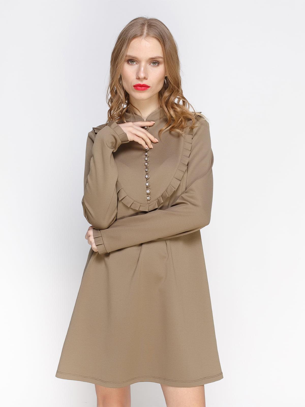 Сукня кольору хакі | 2981669