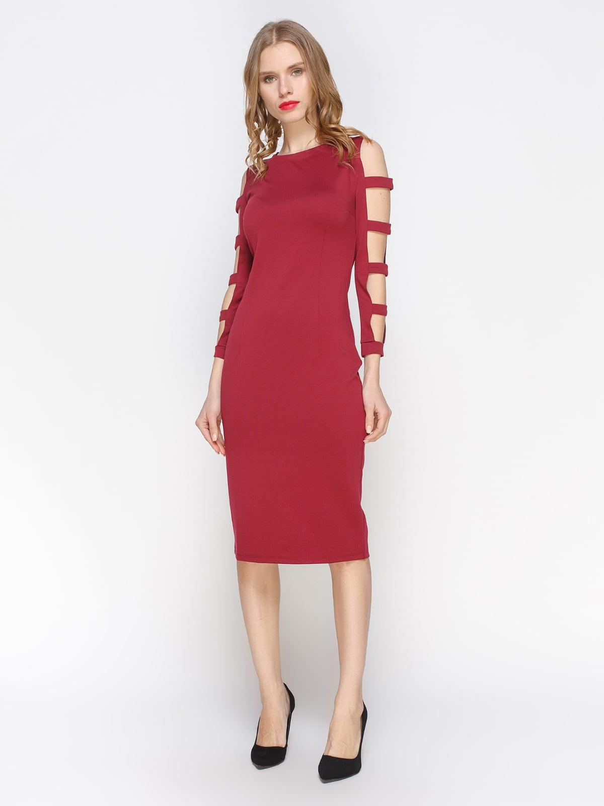 Сукня кольору марсала | 2981665