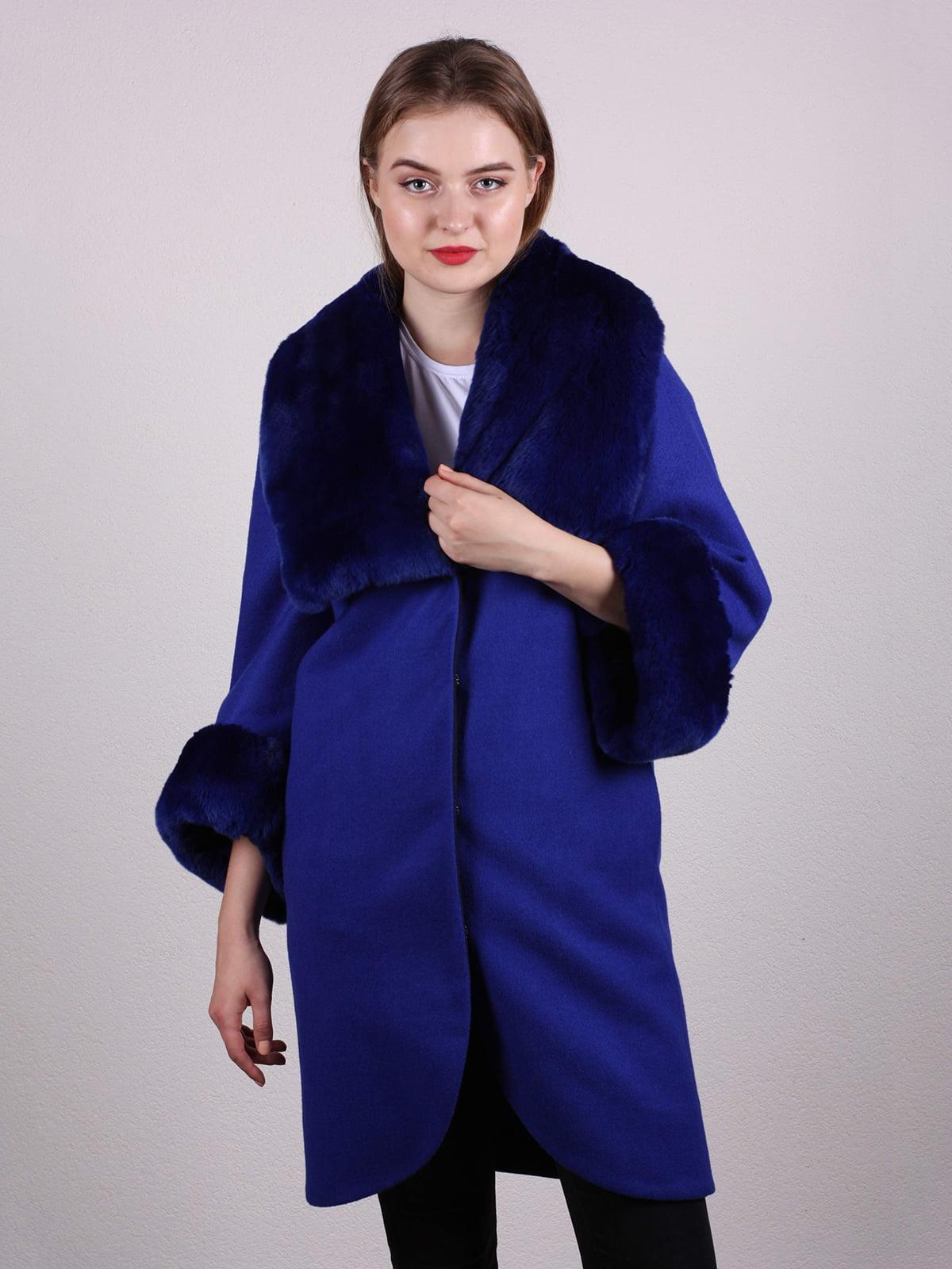 Пальто синее   4816398