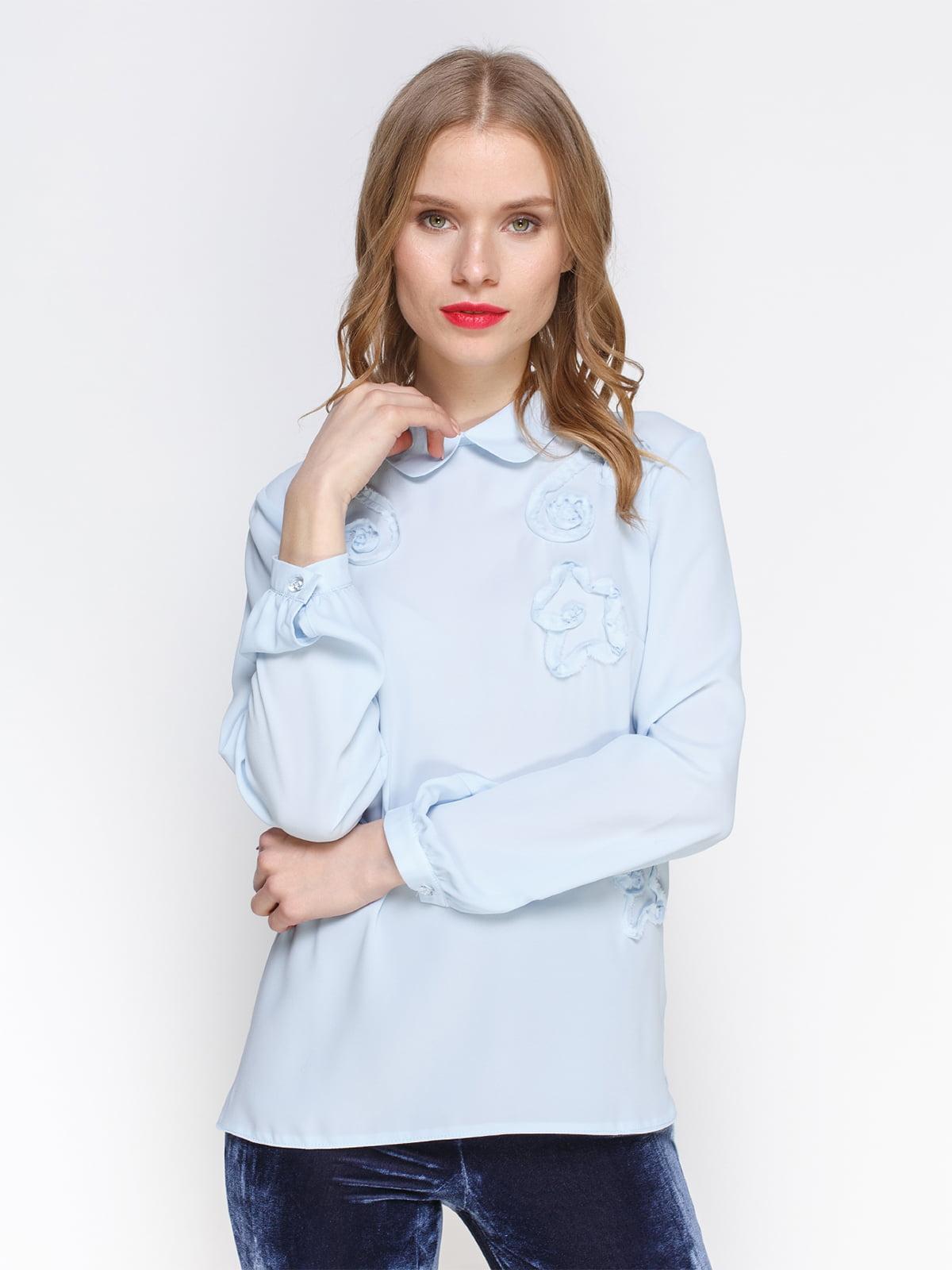 Блуза голубая | 2981626