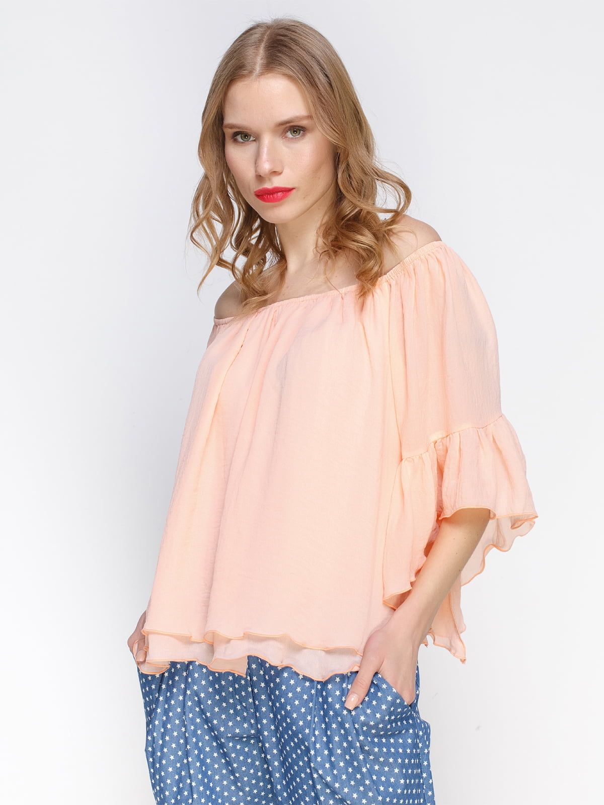 Блуза персикова | 3155094
