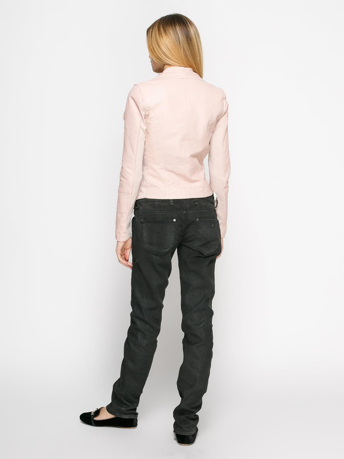 Куртка цвета пудры комбинированная | 1576329 | фото 3