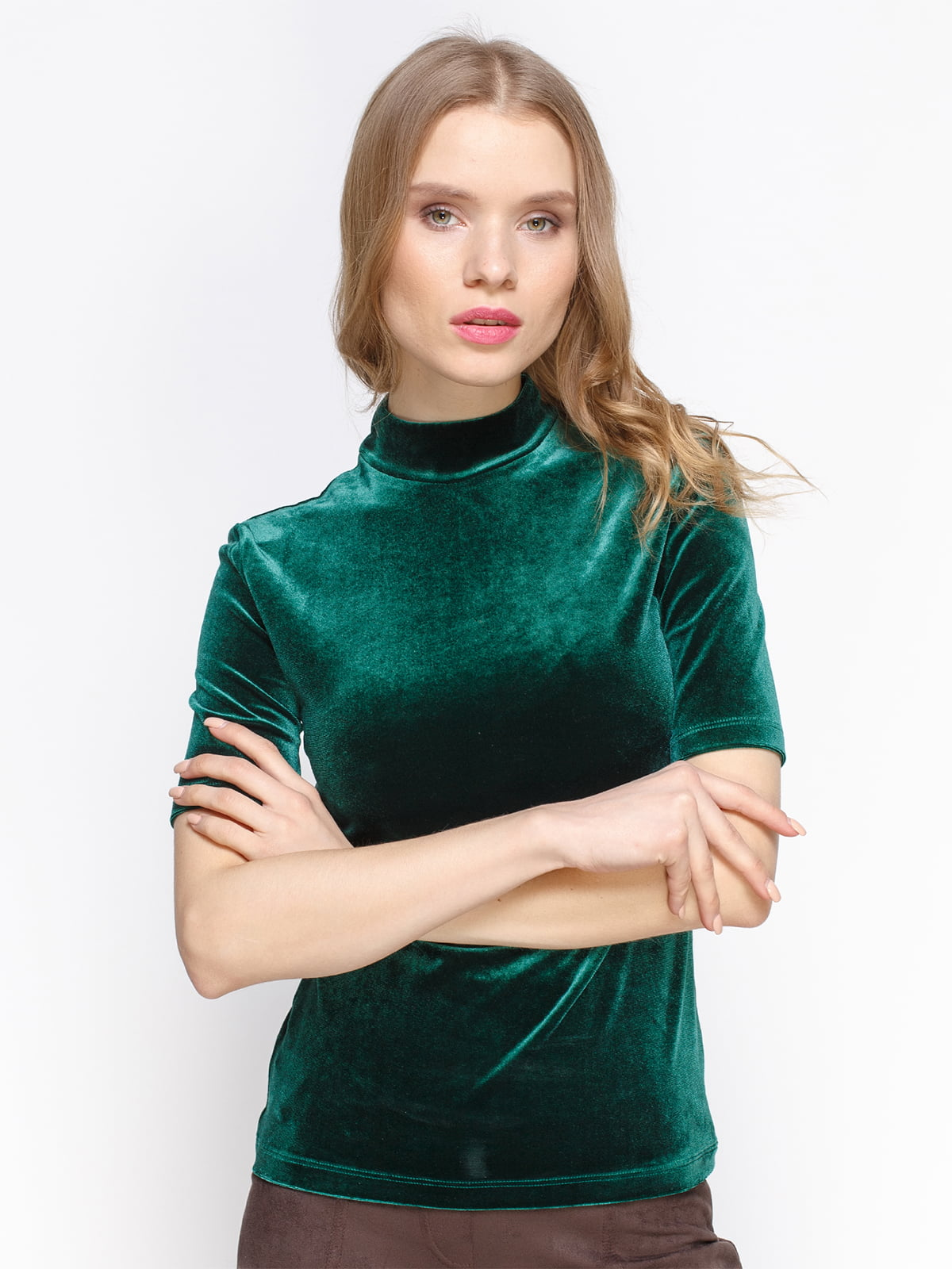 Блуза кольору смарагд | 3098632