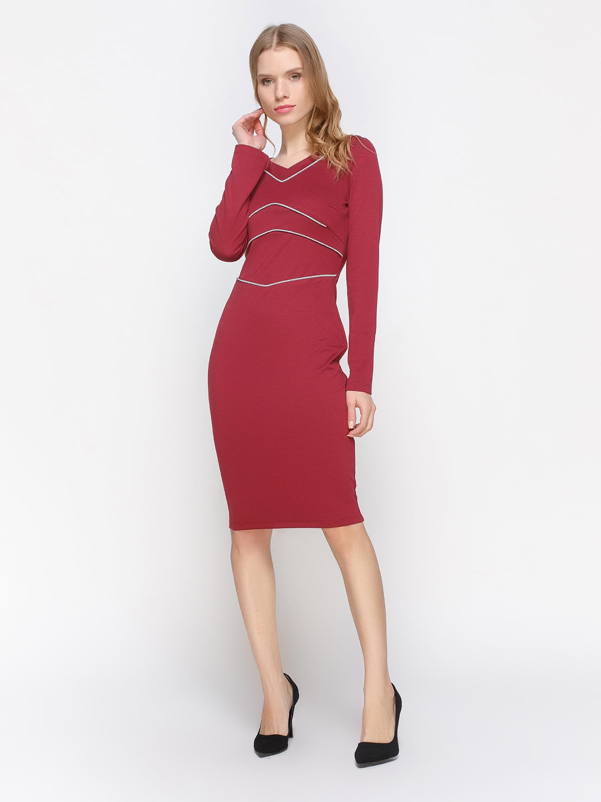 Сукня бордова | 2757710