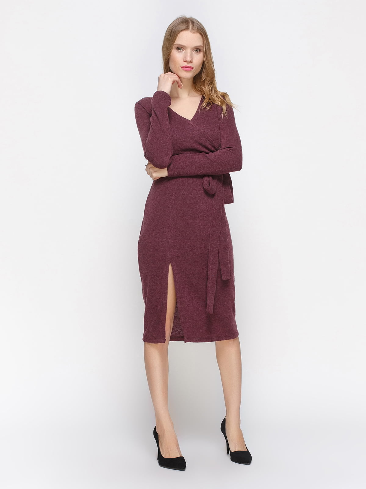 Сукня кольору марсала | 2873348