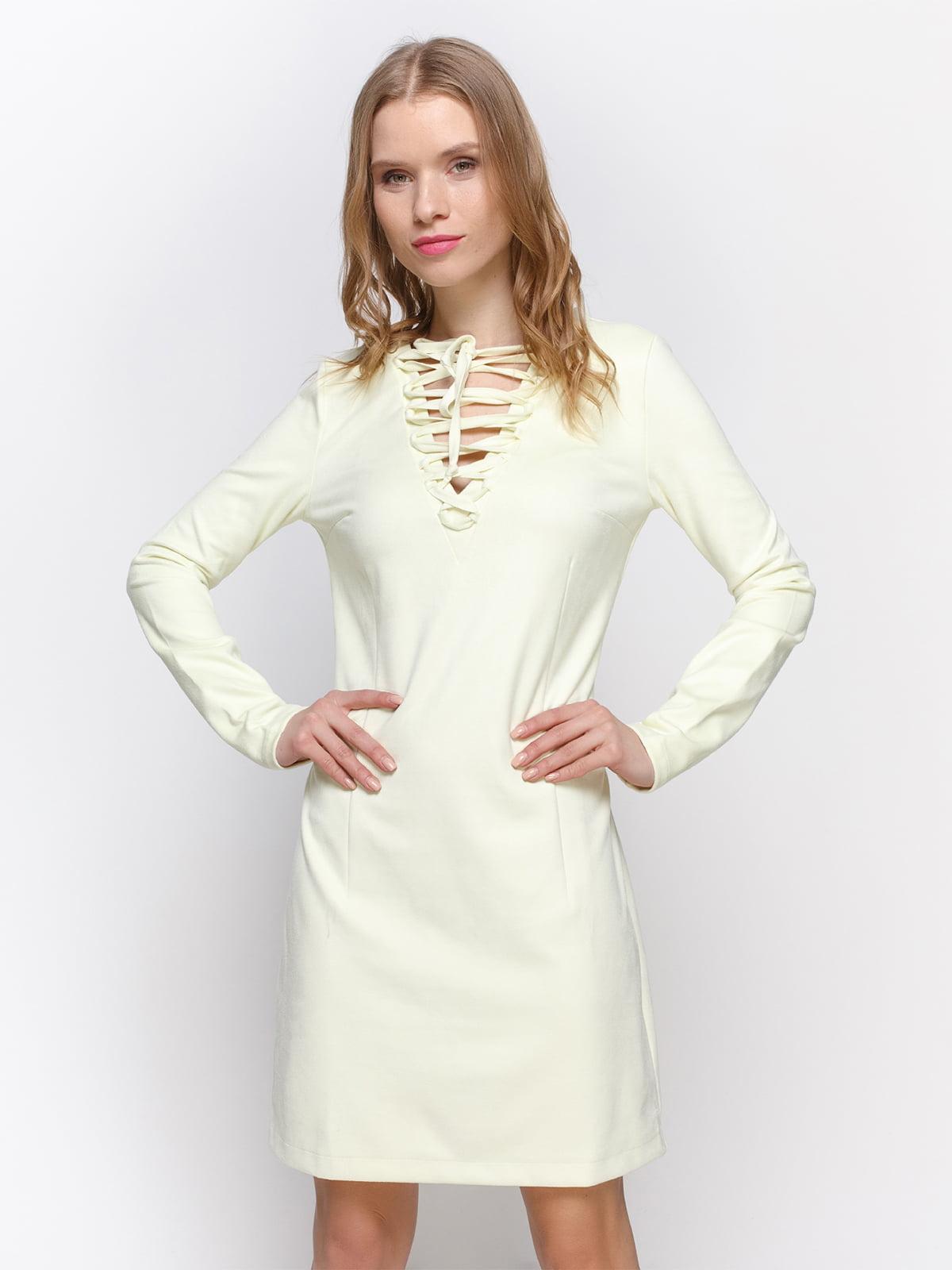 Платье светло-желтое | 2194280