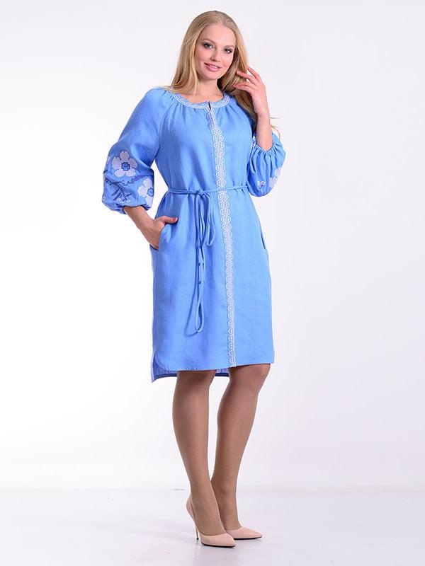Платье голубое   4834494