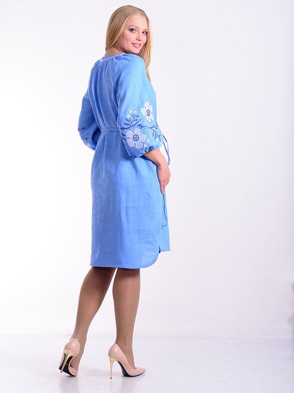 Платье голубое   4834494   фото 2