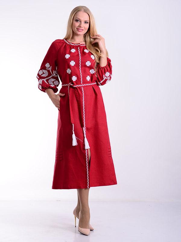 Платье бордовое | 4834496