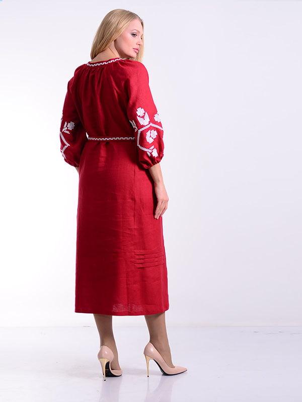 Платье бордовое | 4834496 | фото 2