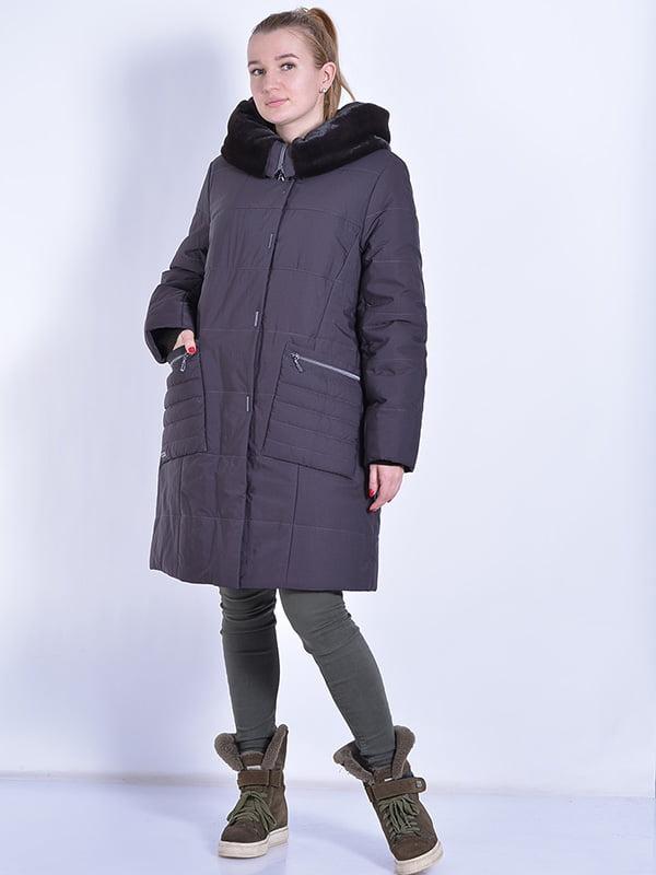Пальто шоколадного цвета | 4834506