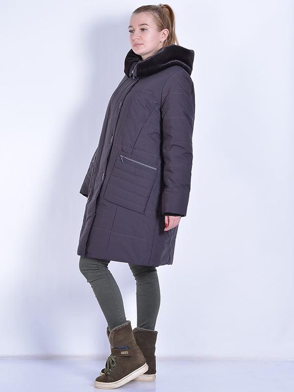 Пальто шоколадного цвета | 4834506 | фото 2