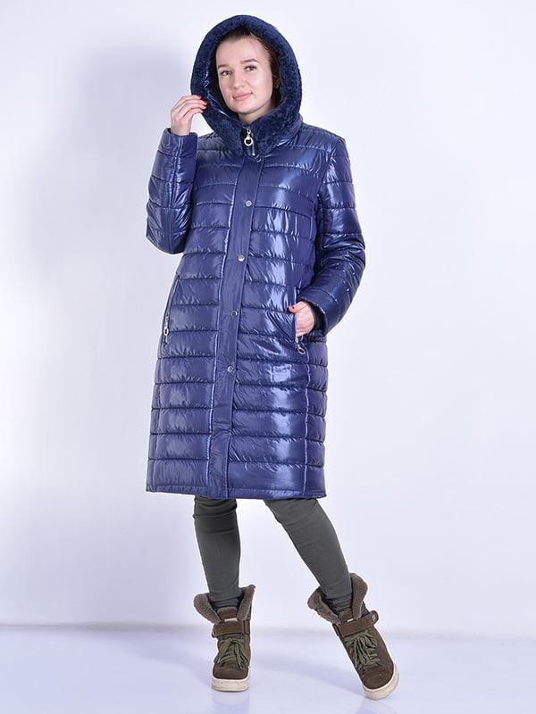 Пальто синее | 4834518 | фото 2