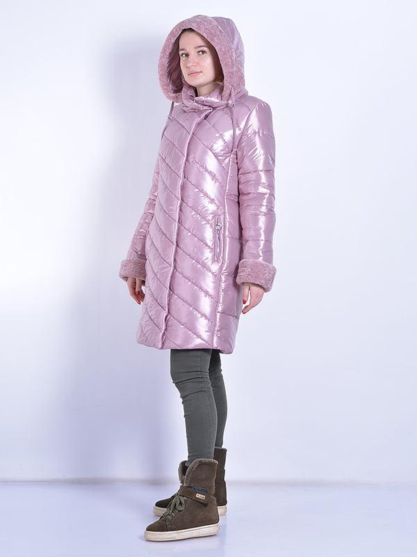 Пальто розовое | 4834520 | фото 2