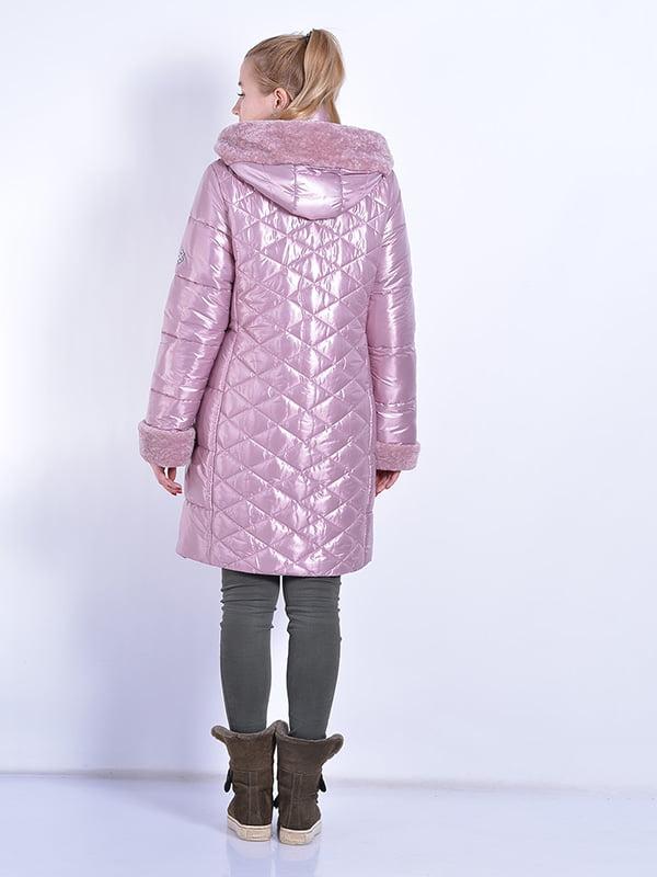 Пальто розовое | 4834520 | фото 3