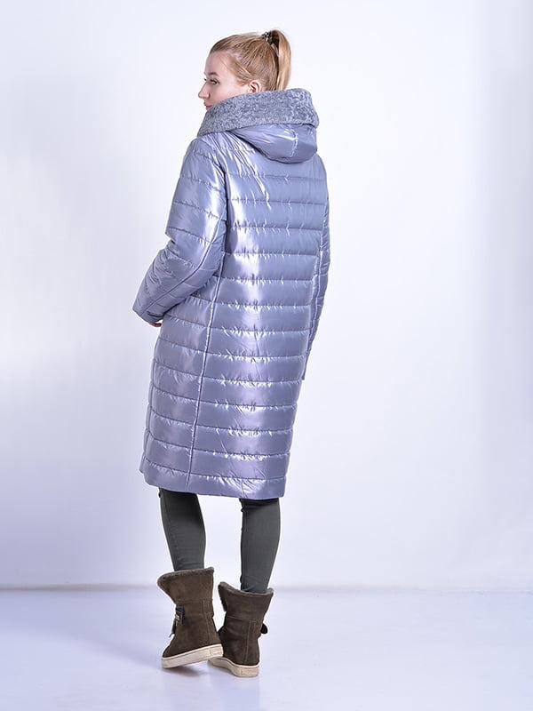 Пальто серое | 4834519 | фото 3