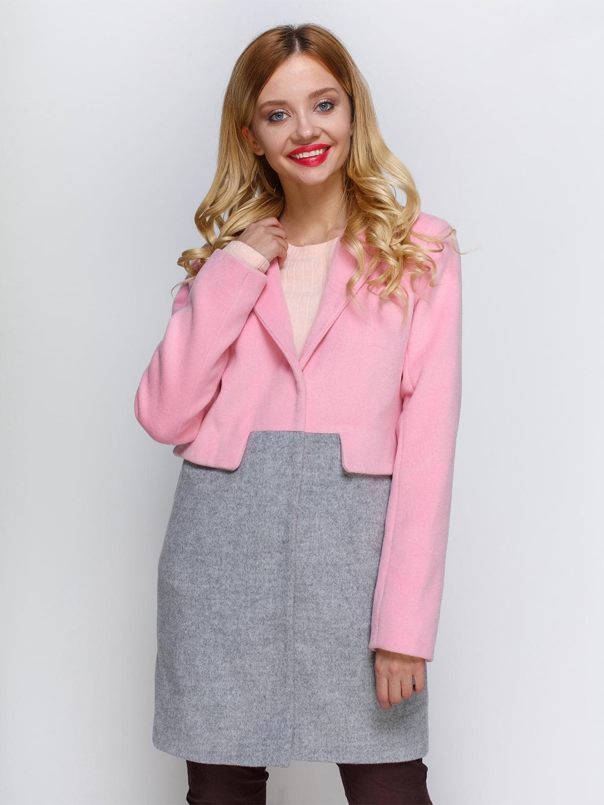 Пальто рожево-сіре | 2194307