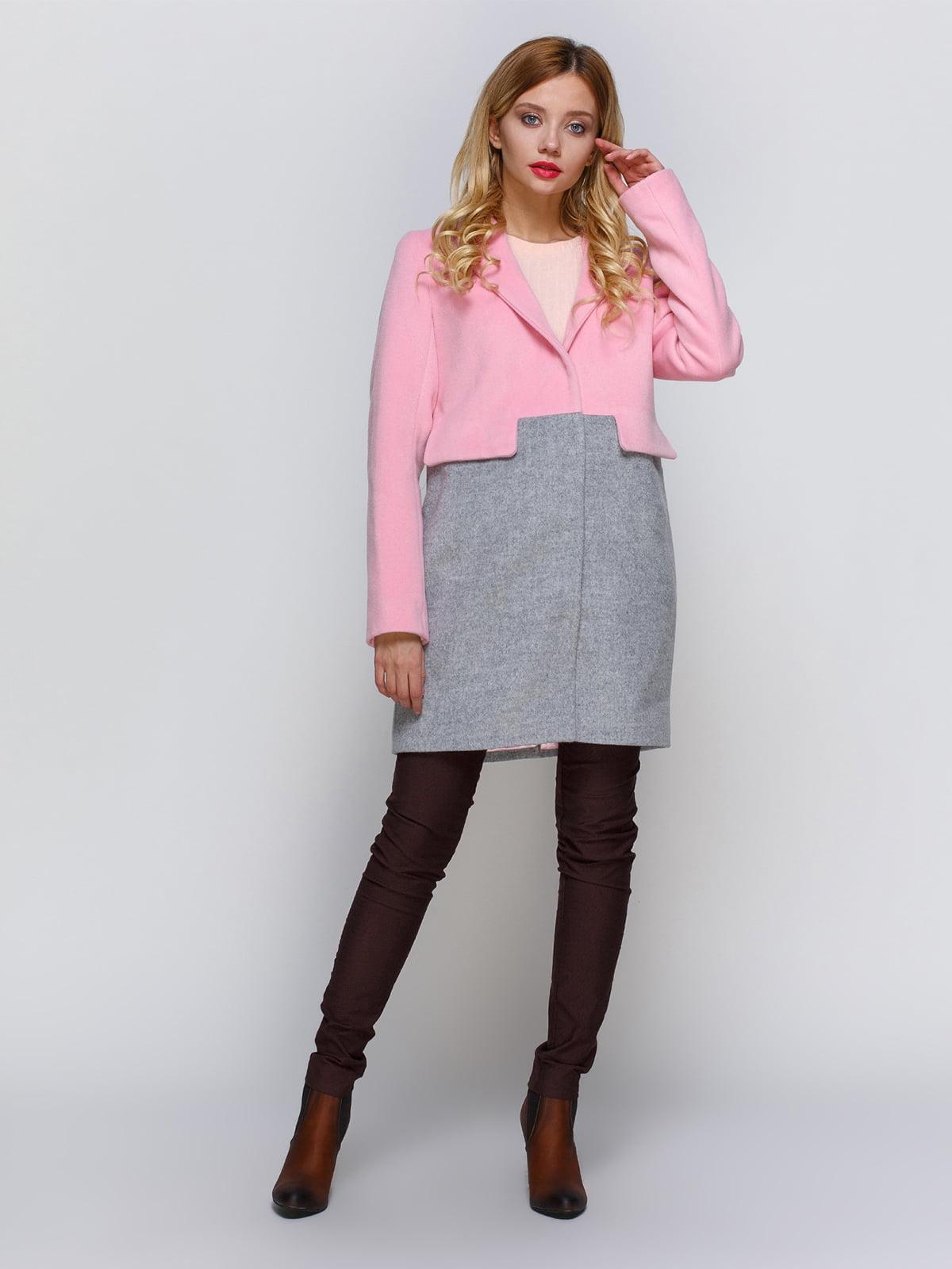 Пальто розово-серое   2194307   фото 2