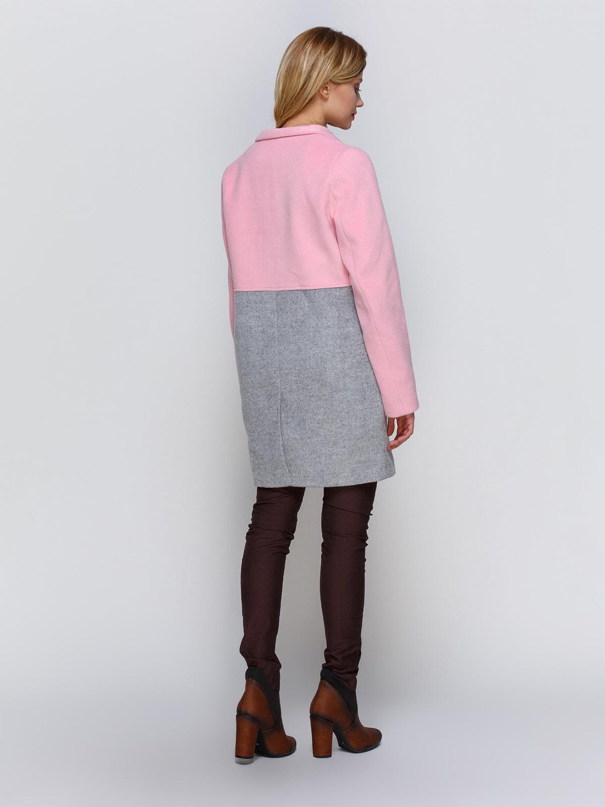 Пальто розово-серое   2194307   фото 3
