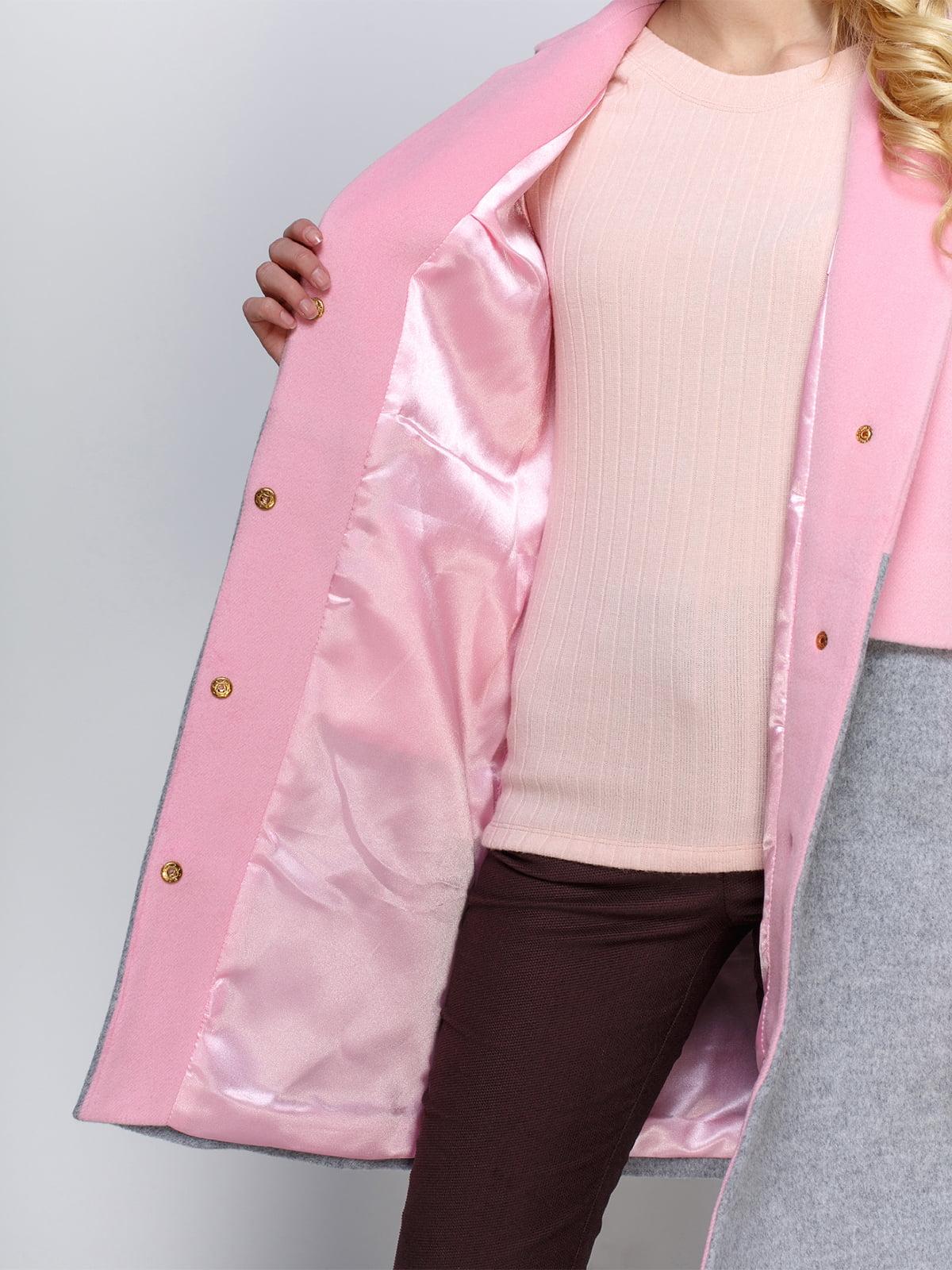 Пальто розово-серое   2194307   фото 4
