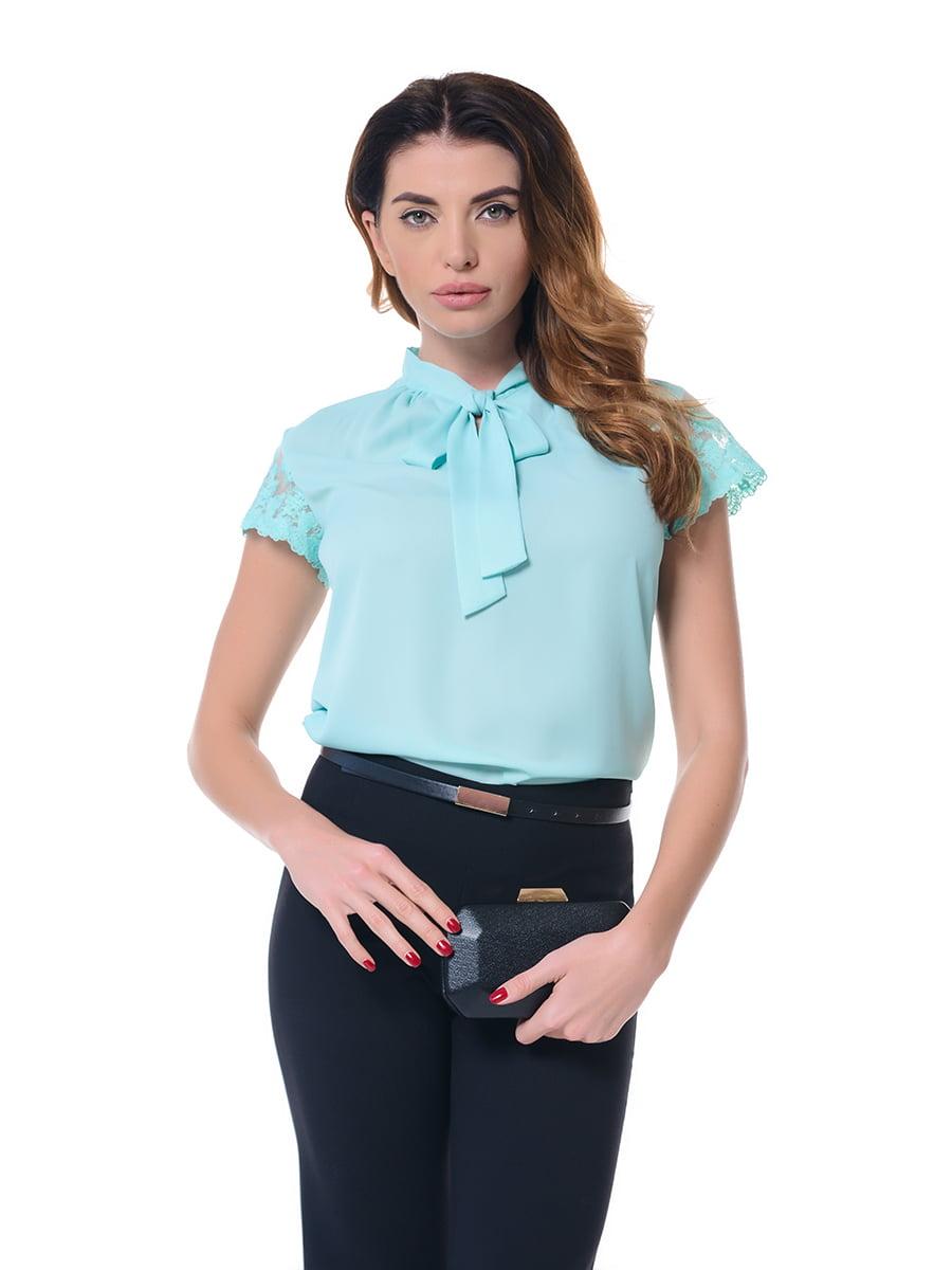 Блуза бирюзовая   4836622