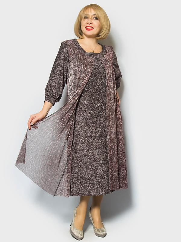 Платье сиреневое | 4839502