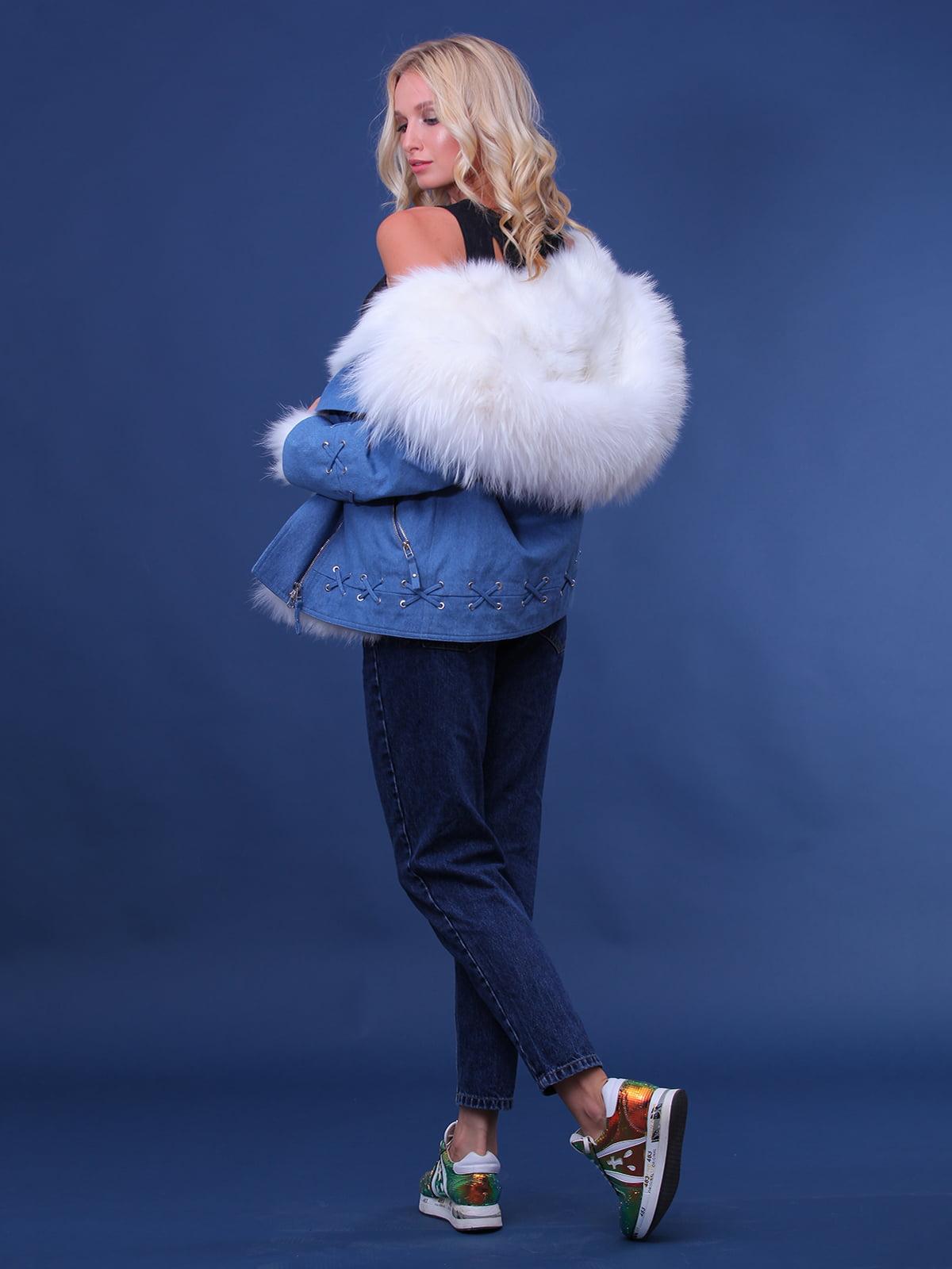 Куртка джинсового цвета | 4834500 | фото 3