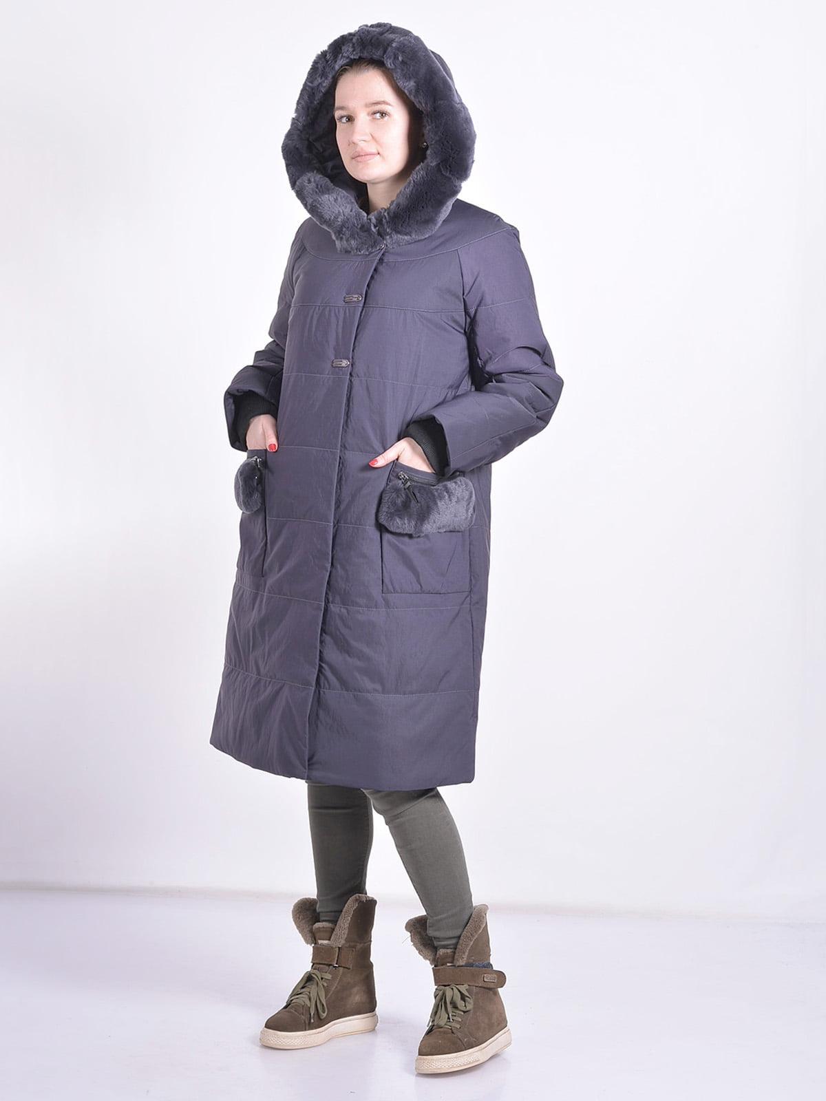 Пальто графитового цвета   4834514