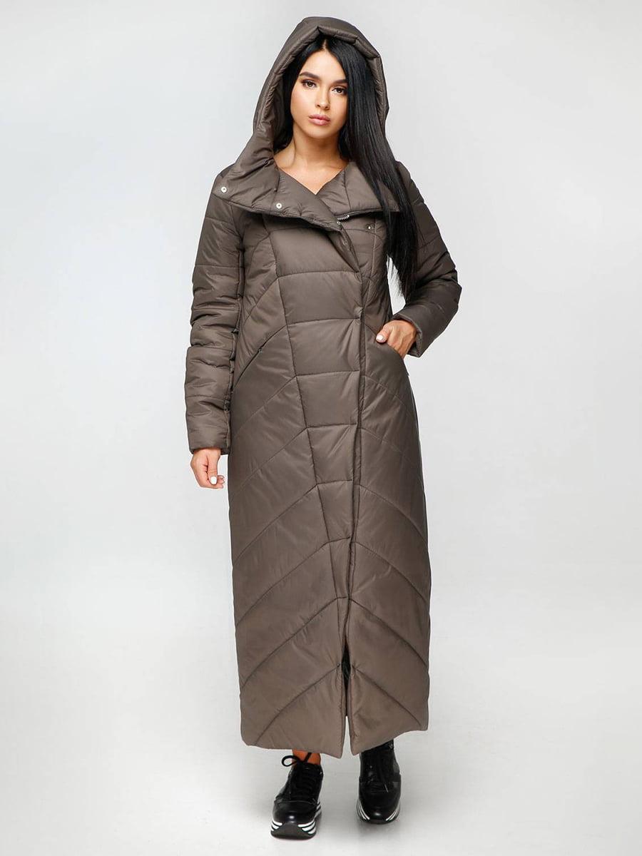 Пальто тускло-серое | 4689132 | фото 2