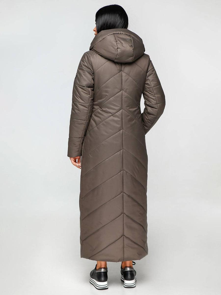 Пальто тускло-серое | 4689132 | фото 3