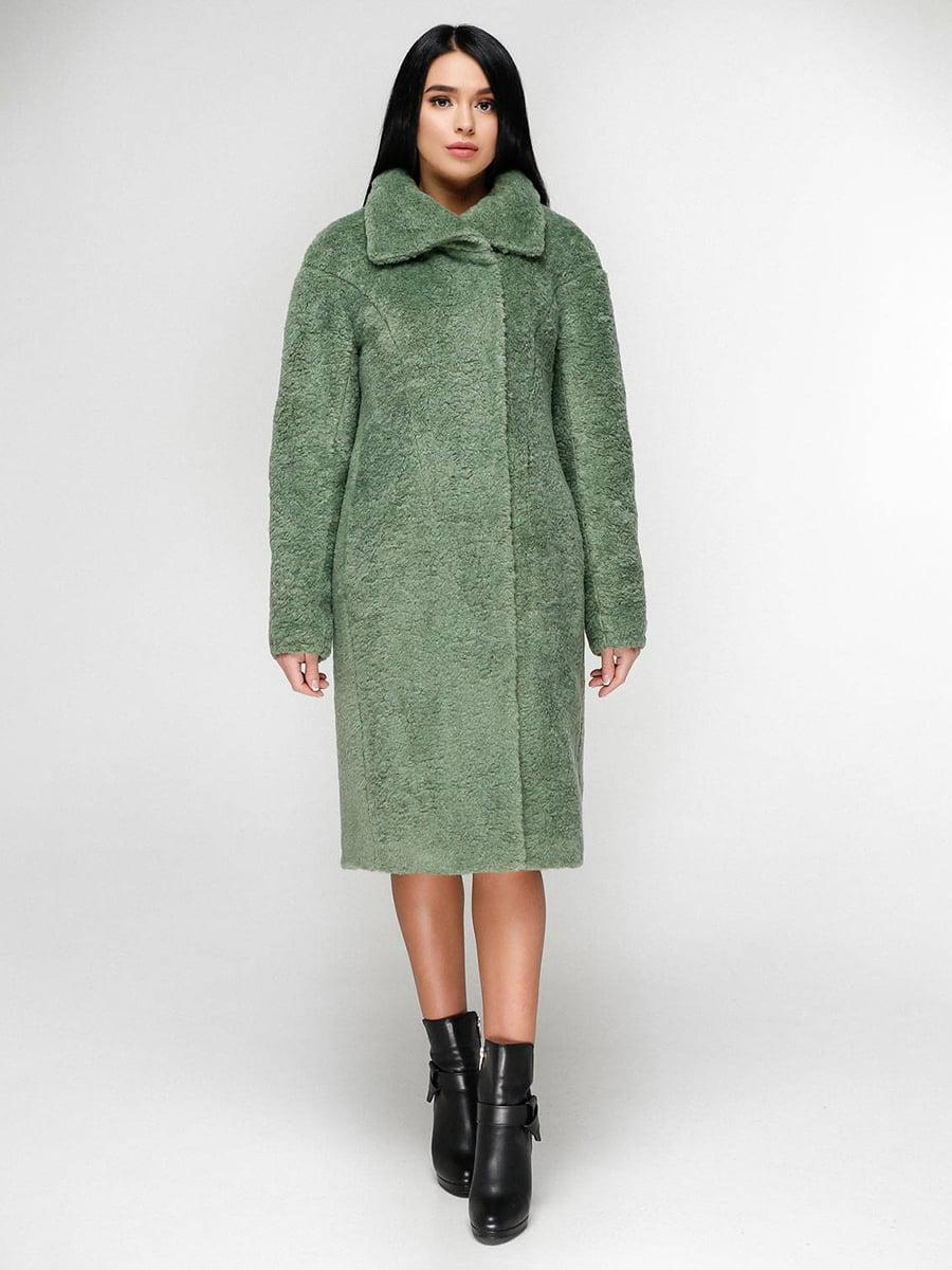Пальто оливкового кольору | 4828116