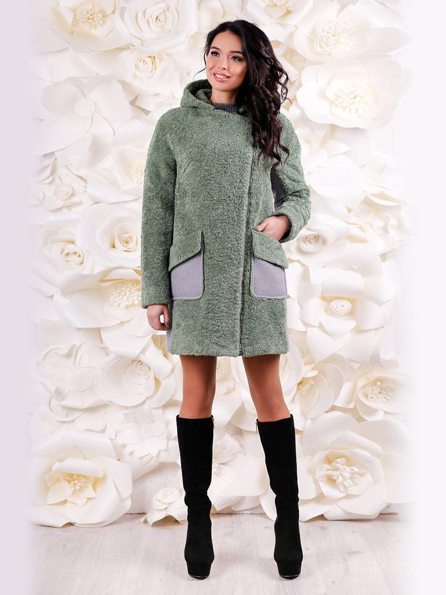 Пальто оливкового кольору | 4655225