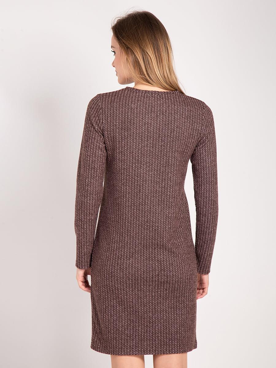 Платье коричневое | 4842292 | фото 3
