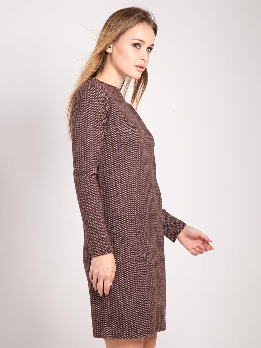 Платье коричневое | 4842292 | фото 4