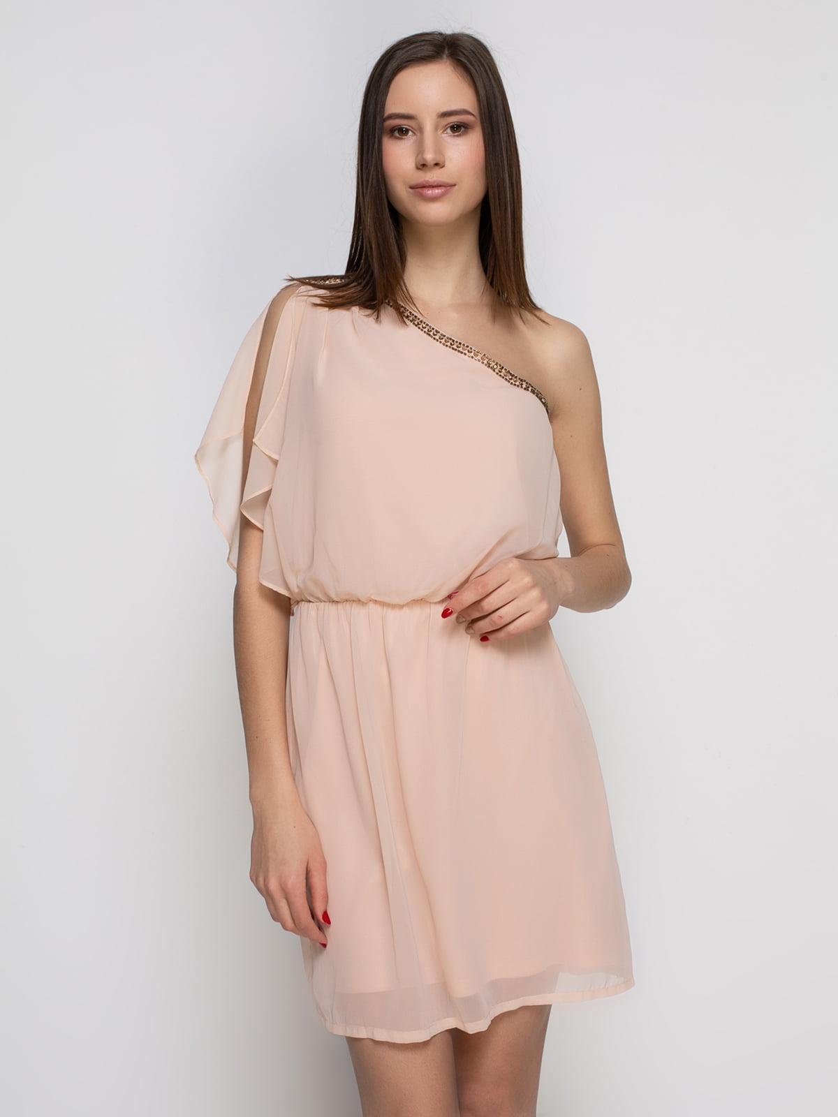 Сукня кольору пудри   4623046