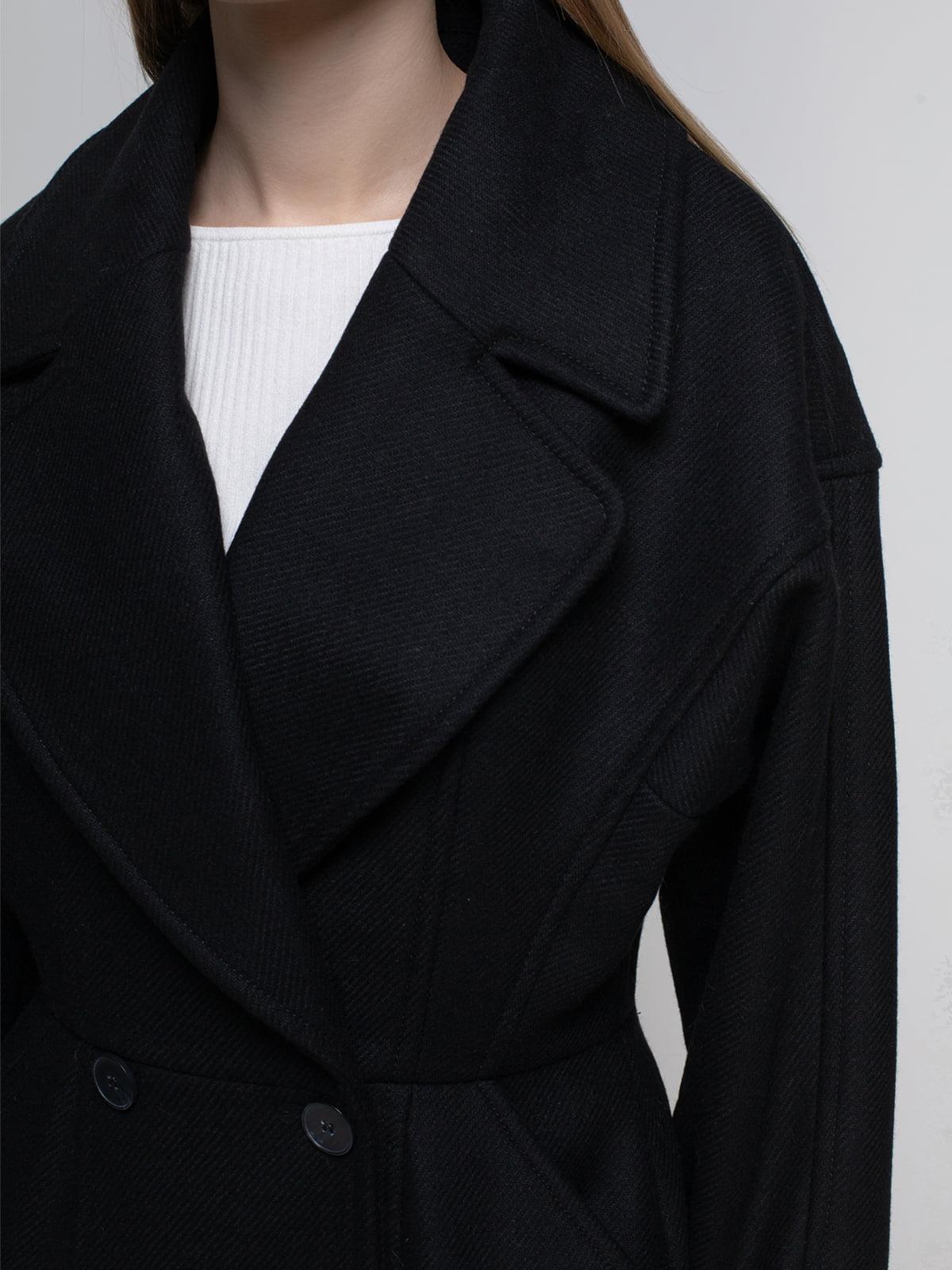 Пальто черное | 3612713 | фото 4