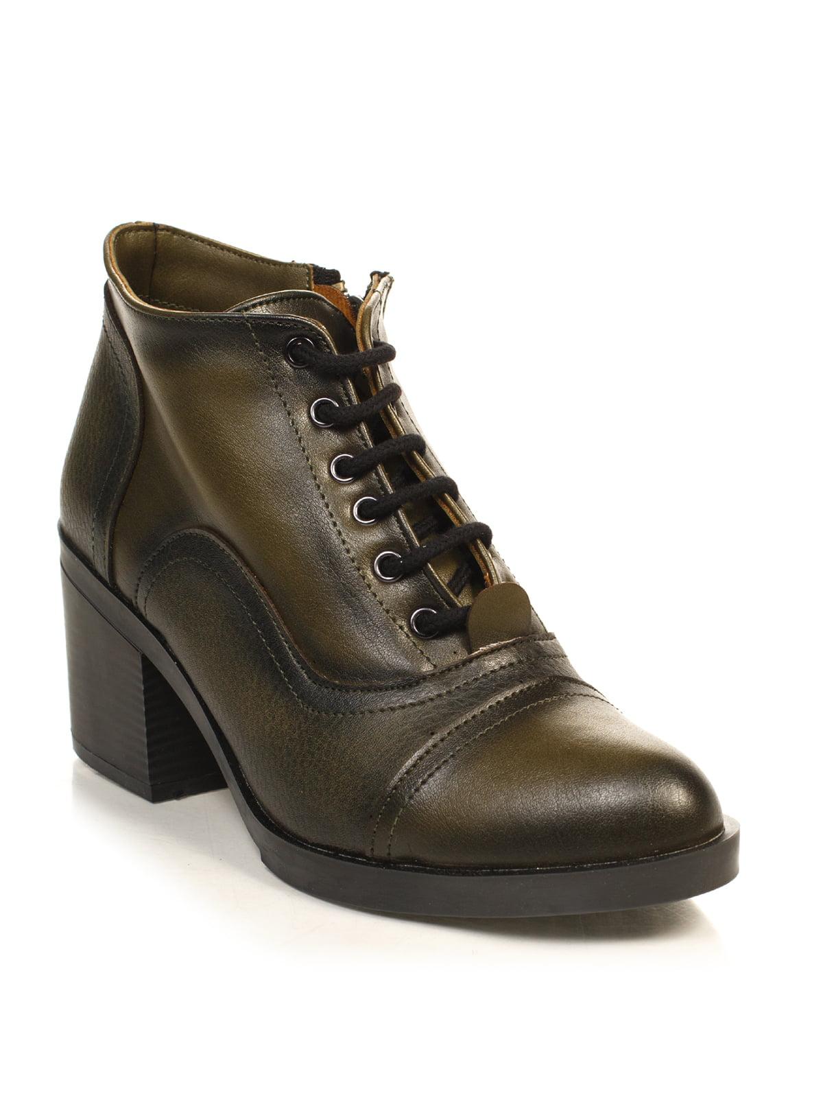 Ботинки цвета хаки | 4840113