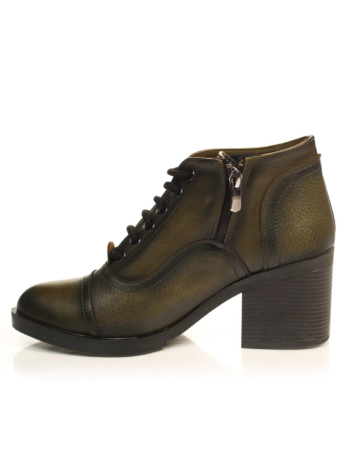 Ботинки цвета хаки | 4840113 | фото 2