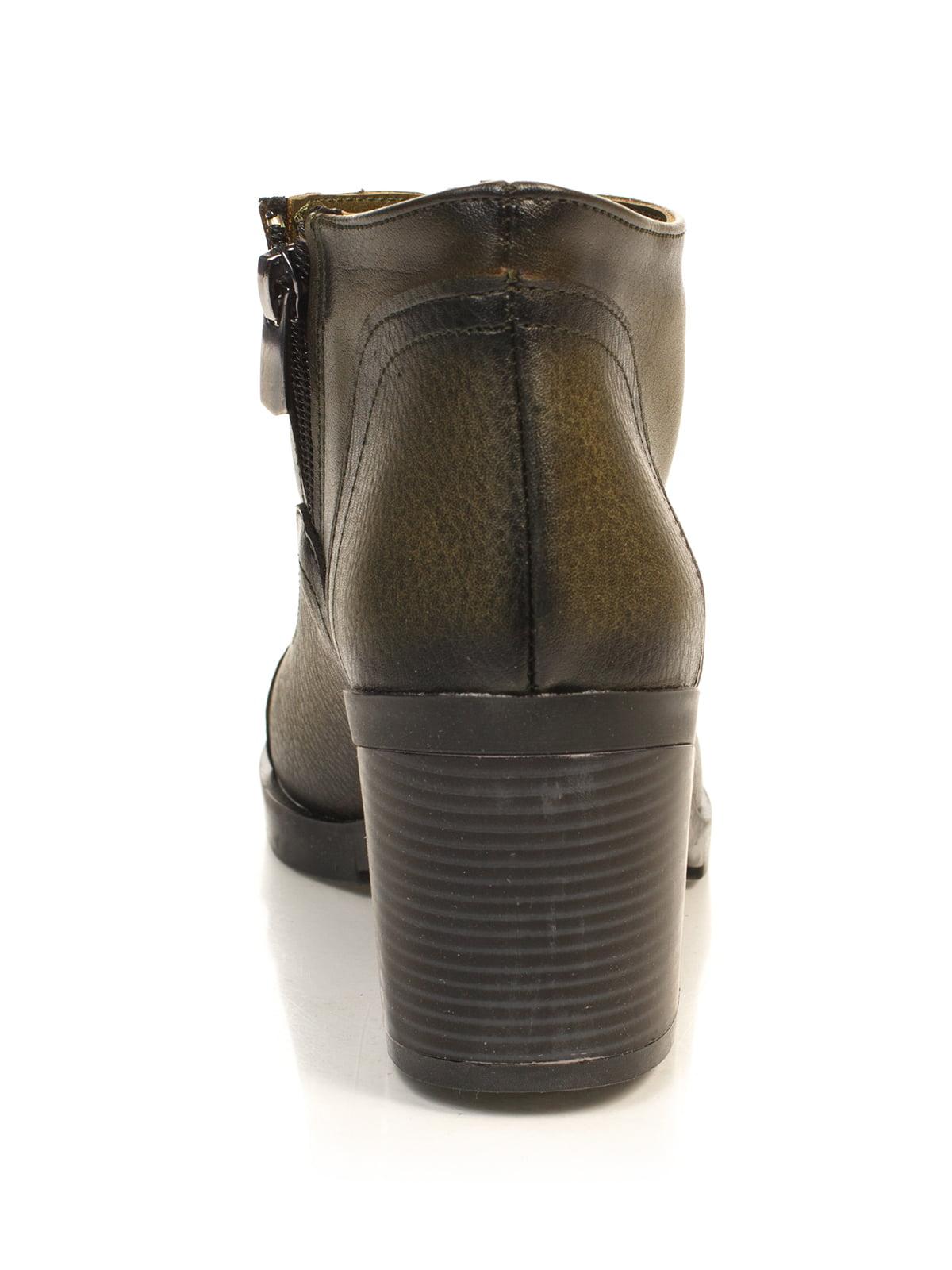 Ботинки цвета хаки | 4840113 | фото 3