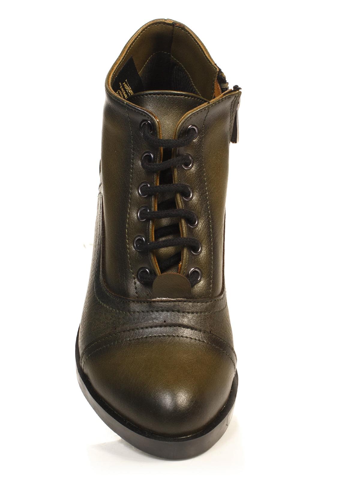 Ботинки цвета хаки | 4840113 | фото 4