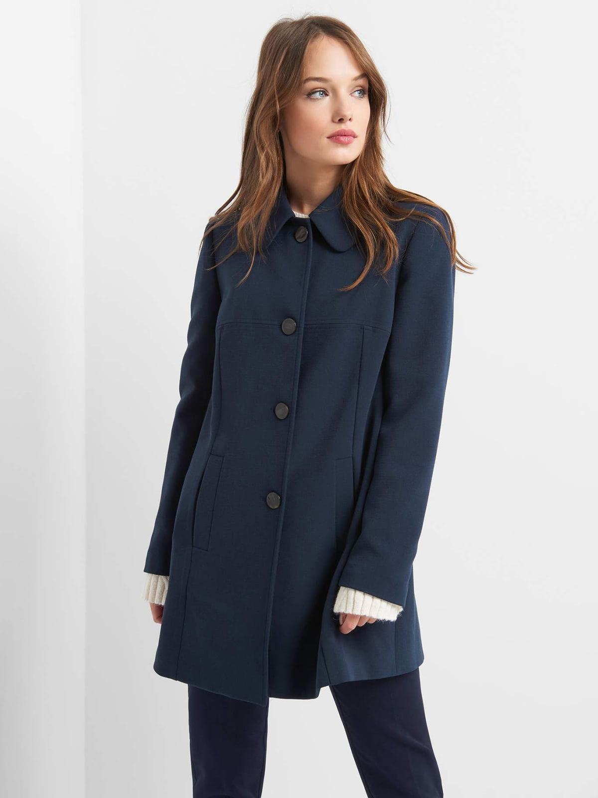 Пальто темно-синее | 4855999