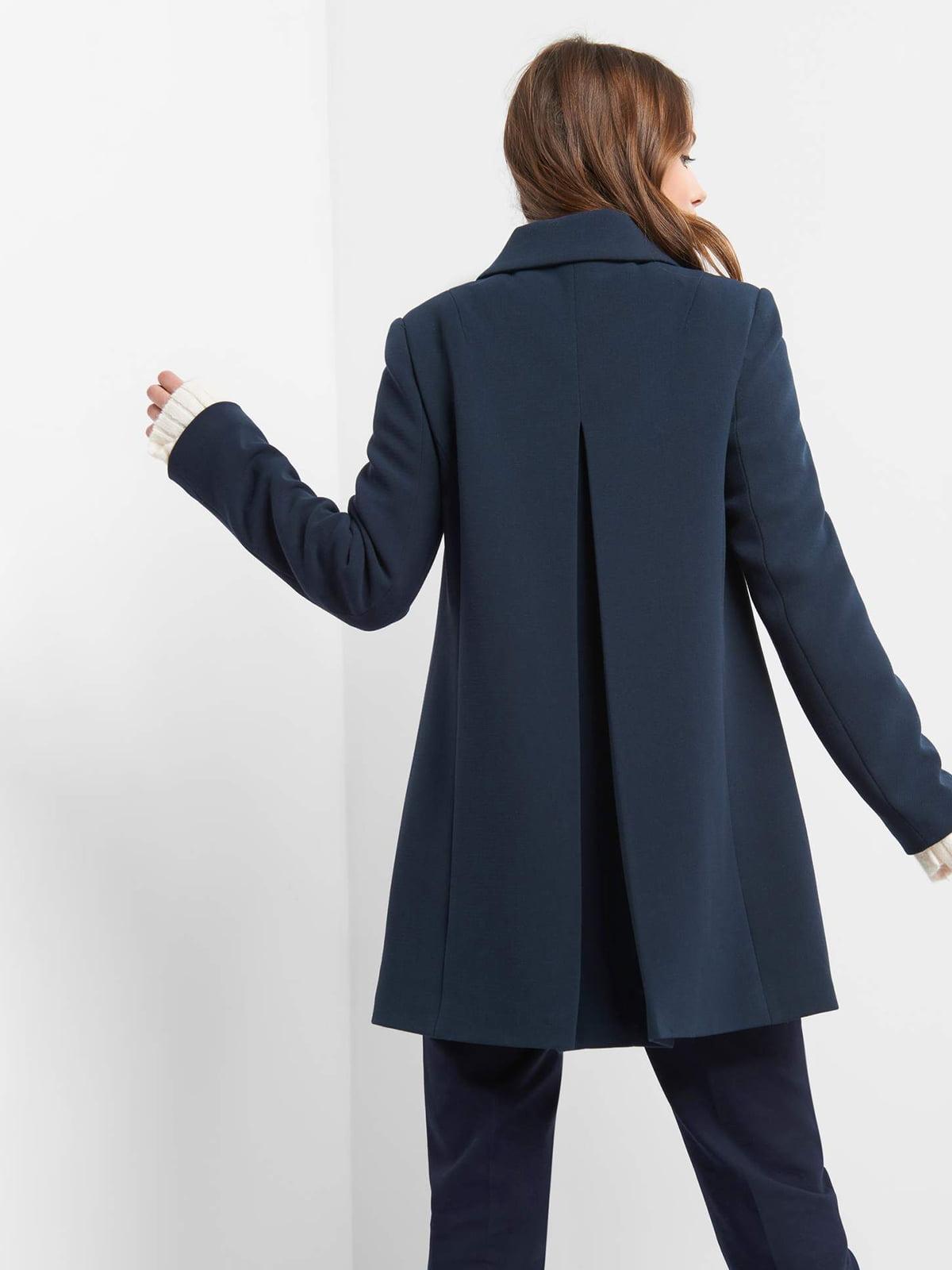 Пальто темно-синее | 4855999 | фото 2